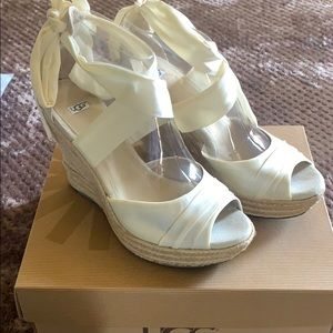 Ugg Off White Lucianna Wedges